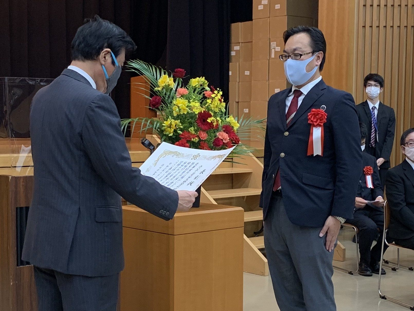 ATU 福岡 警備 障がい者雇用 雇用促進大会 福岡県知事表彰 授賞式2