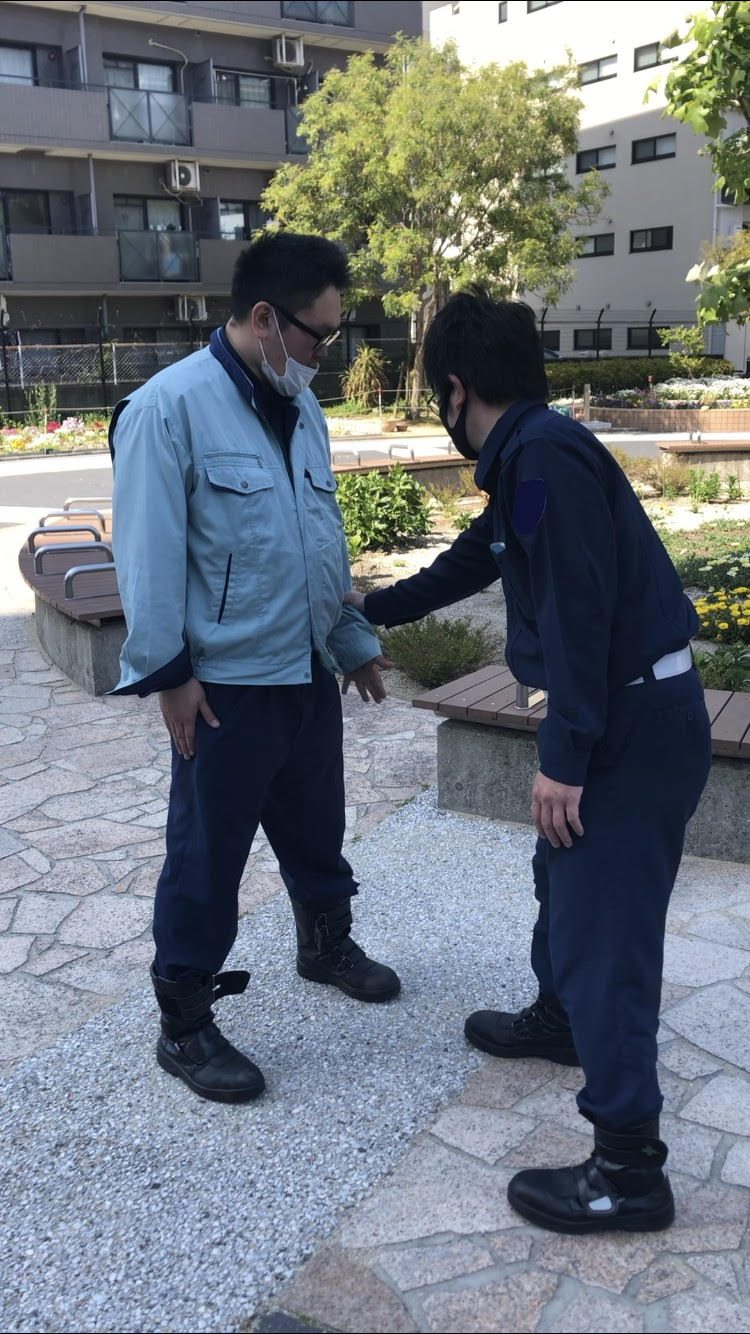 ATU 福岡 警備 検定 徒手 片手内回し 手を開く